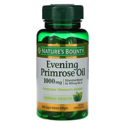 Nature's Bounty Масло вечерней примулы, 1000 мг, 60 мягких капсул с быстрым высвобождением