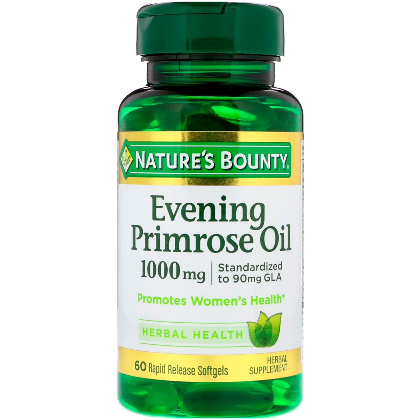 Nature\'s Bounty, Aceite de onagra, 1000 mg, 60 cápsulas blandas de ...