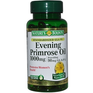 Nature's Bounty, イブニングプリムローズオイル、1,000 mg、速放性ソフトゲル60個
