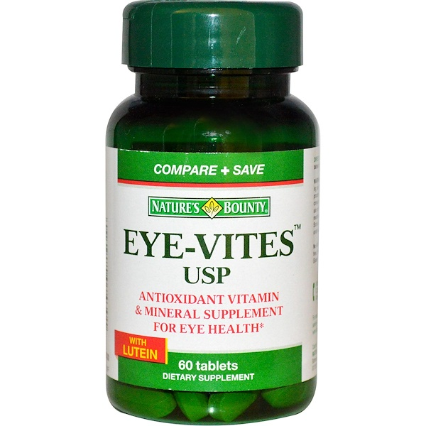 Nature's Bounty, Eye-Vites USP with Lutein, 60 Tablets (Discontinued Item)