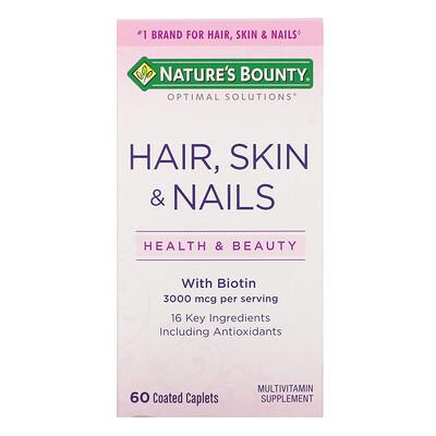Natures Bounty Волосы, кожа и ногти, 60 капсул, покрытых оболочкой