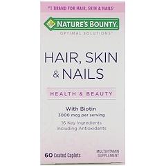 Nature's Bounty, الشعر، البشرة، والأظافر، 60 كبسولة مغطاة