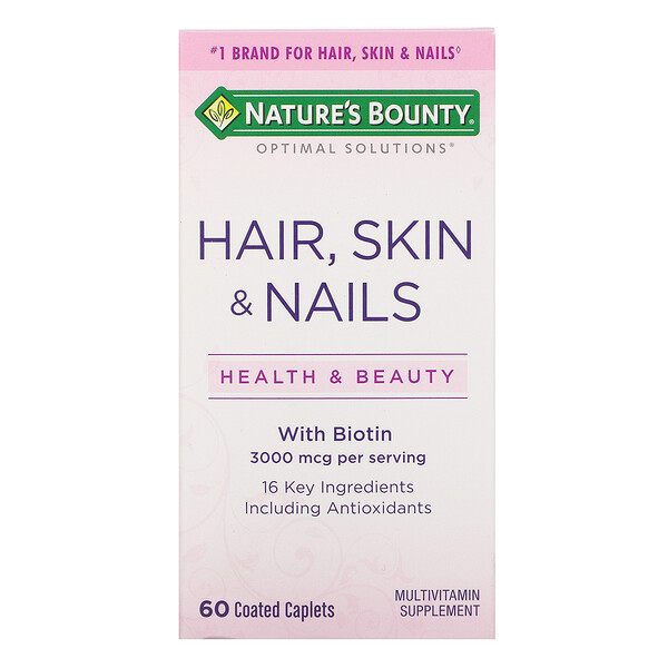Nature's Bounty, Hair, Skin & Nails, 60 Coated Caplets