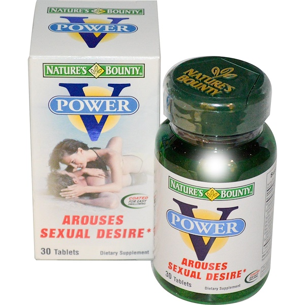 Nature's Bounty, V Power for Men, Arouses Sexual Desire, 30 Tablets (Discontinued Item)