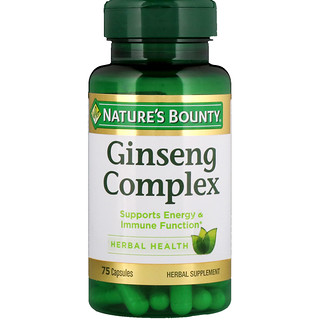 Nature's Bounty, Complejo Ginseng, 75 cápsulas