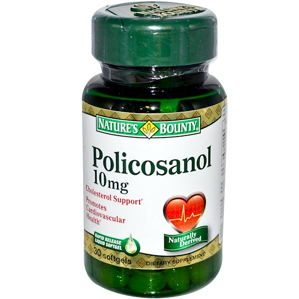 Nature's Bounty, Policosanol, 10 mg, 30 Softgels (Discontinued Item)