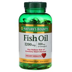Nature's Bounty, 魚油,1,200毫克,200快速釋放軟膠囊