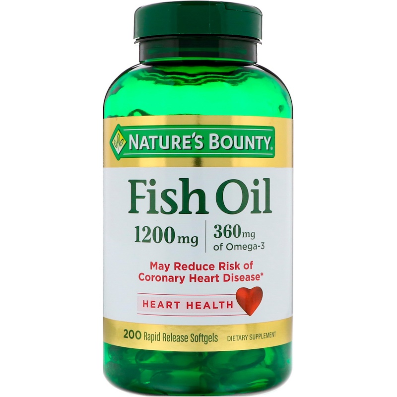 Fish Oil, 1,200 mg, 200 Rapid Release Softgels