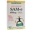 Nature's Bounty, SAM-e (S-Adenosyl-L-Methionine), суперсила, 400 мг, 30 таблеток (Discontinued Item)