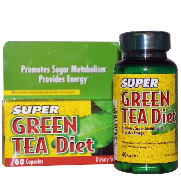 Nature's Bounty, Super Green Tea Diet, 60 Capsules (Discontinued Item)