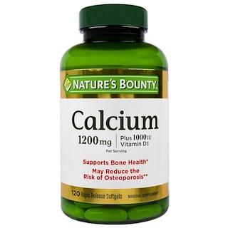 Nature's Bounty, Calcium Plus Vitamin D3, 1200 mg/1000 IU, 120 Rapid Release Softgels