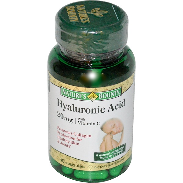 Nature's Bounty, Hyaluronic Acid with Vitamin C, 20 mg, 30 Capsules (Discontinued Item)