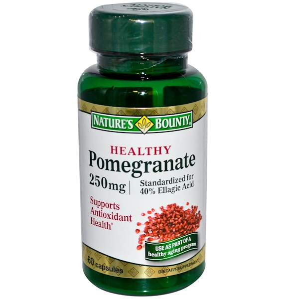Nature's Bounty, Healthy Pomegranate, 250 mg, 60 Capsules (Discontinued Item)