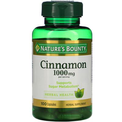 Купить Nature's Bounty Корица, 1000 мг, 100 капсул