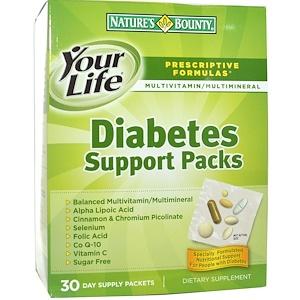 Натурес Баунти, Diabetes Support Packs, Multivitamin & Multimineral Supplement, 30 Packets отзывы