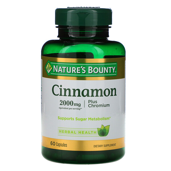 Cinnamon Plus Chromium, 2,000 mg, 60 Capsules