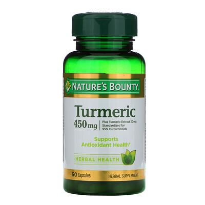 Купить Nature's Bounty Куркума, 450 мг, 60 капсул