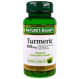 Nature's Bounty, Turmeric, 450 mg, 60 Capsules