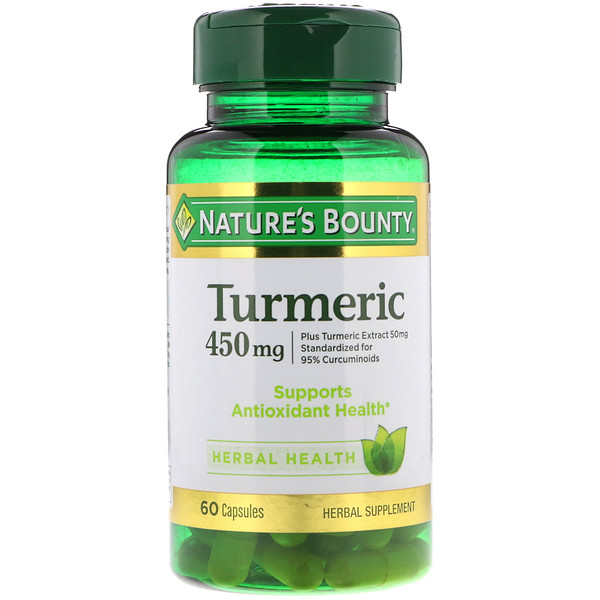 Nature's Bounty, Curcuma, 450 mg, 60 capsules.