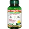 Nature's Bounty, D3, High Potency, 1000 IU, 250 Rapid Release Softgels