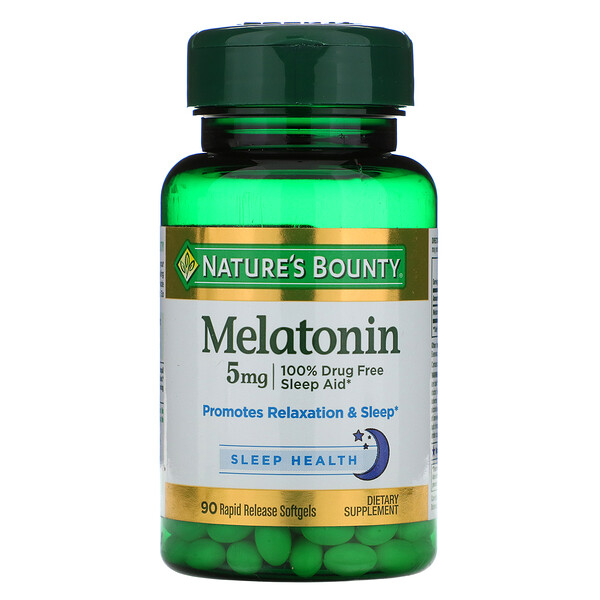 Nature's Bounty, Melatonin, 5 mg, 90 Rapid Release Softgels