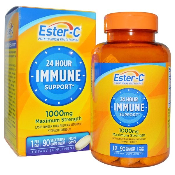 Nature's Bounty, 24 Hour Immune Support, Maximum Strength, 1000 mg, 90 Tablets (Discontinued Item)