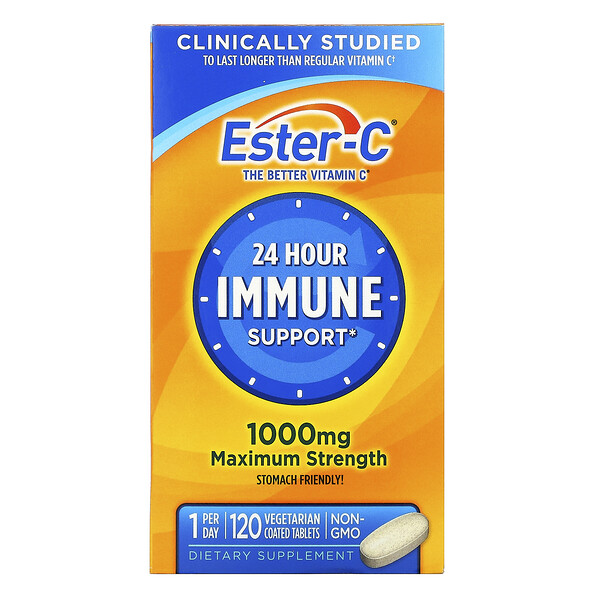 Ester-C, 1,000 mg, 120 Vegetarian Coated Tablets