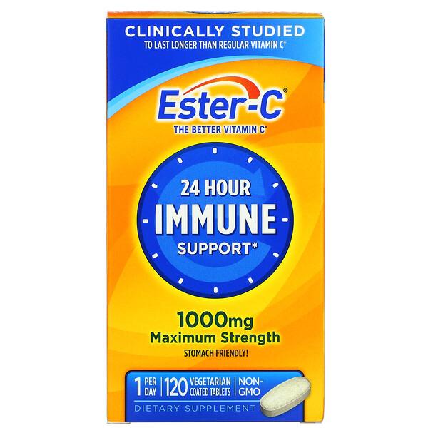 Ester-C, 1.000 mg, 120 Comprimidos Revestidos Vegetais