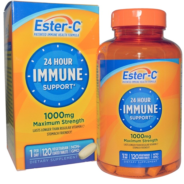Ester-C, 1000 mg, 120 Veggie Coated Tablets