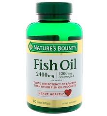 Nature's Bounty, Fish Oil, 2,400 mg, 90 Coated Softgels