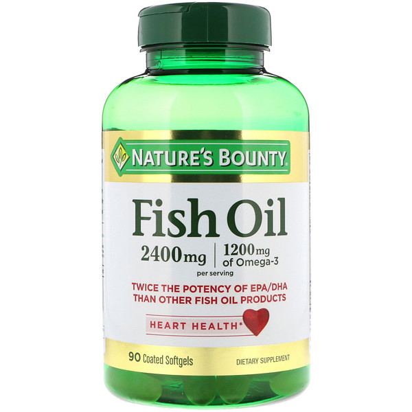 Fish Oil, 2,400 mg, 90 Coated Softgels