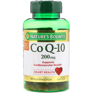 Nature's Bounty, Co Q-10, 200 mg, 80 Rapid Release Softgels