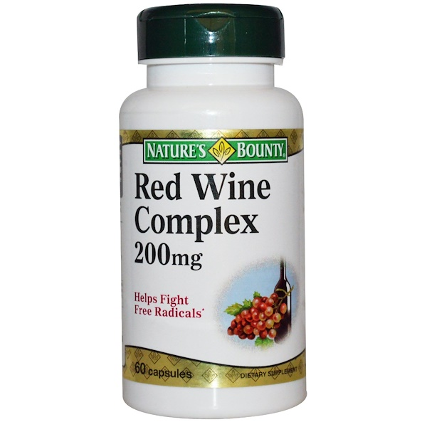 Nature's Bounty, Red Wine Complex, 200 mg, 60 Capsules (Discontinued Item)