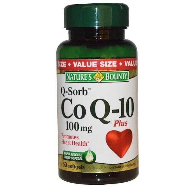 Nature's Bounty, Q-Sorb, коэнзим Q-10 плюс, 100 мг, 60 капсул (Discontinued Item)