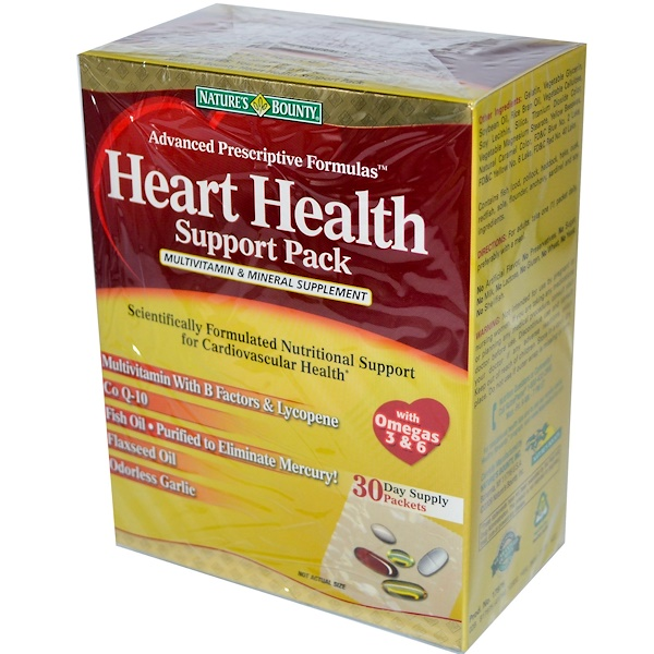 Nature's Bounty, Heart Health Support Pack, Multivitamin & Mineral Supplement, 30 Packets (Discontinued Item)