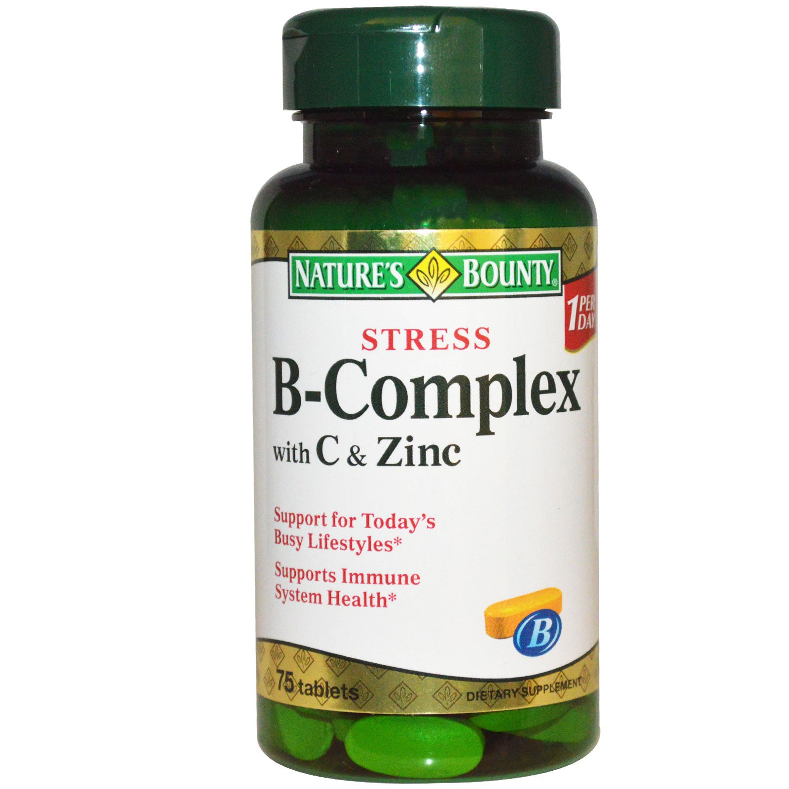 Nature 39 s bounty stress b complex with c zinc 75 for Nature s bounty fish oil review