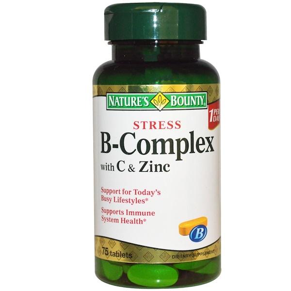 Nature's Bounty, От стресса, витамины группы В с витамином С и цинком, 75 таблеток (Discontinued Item)