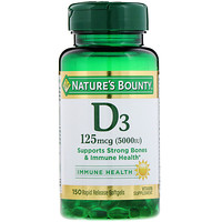 D3, Maximum Strength, 5000 IU, 150 Softgels - фото