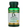 Nature's Bounty, VitaminaD3, Salud inmunitaria, 125mcg (5000UI), 150cápsulas blandas de liberación rápida
