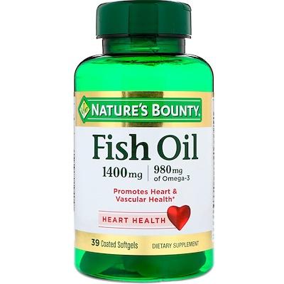 Купить Рыбий жир, тройная сила, 1400 мг, 39 мягких желатиновых капсул в оболочке