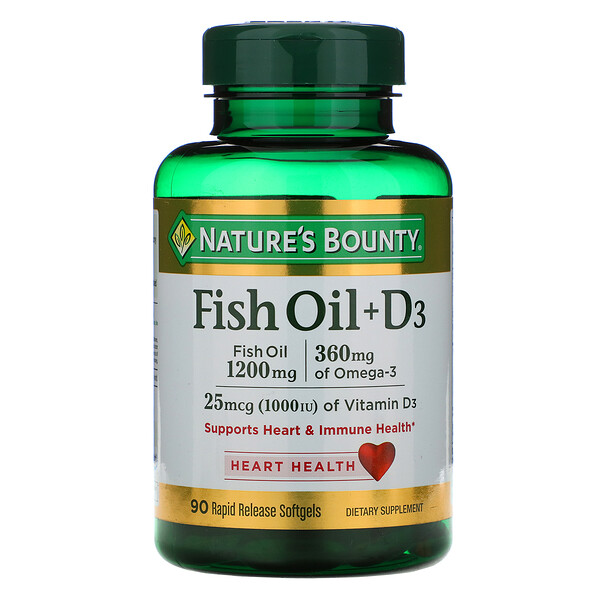 Fish Oil + D3, 90 Rapid Release Softgels