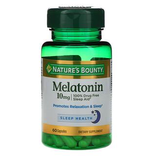 Nature's Bounty, Melatonin, 10 mg, 60 Capsules