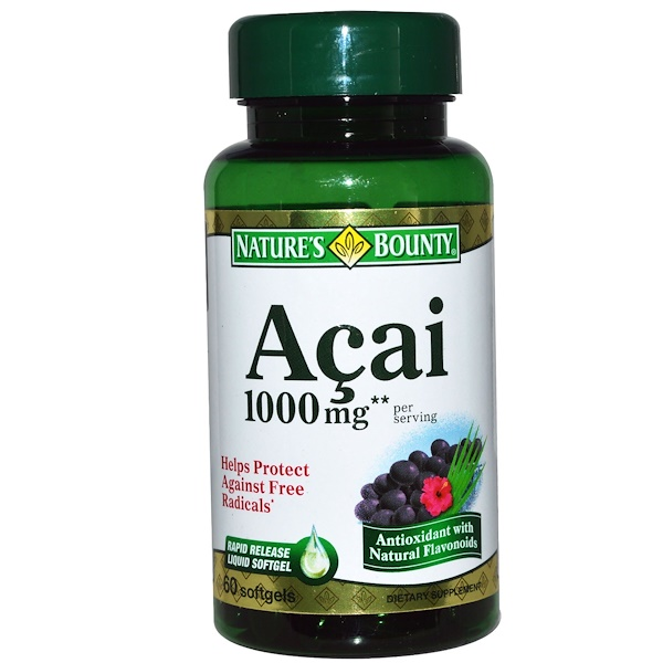 Nature's Bounty, Acai, 1000 mg, 60 Softgels (Discontinued Item)
