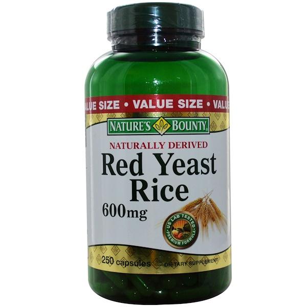 Nature's Bounty, Красный дрожжевой рис, 600 мг, 250 капсул (Discontinued Item)