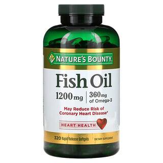 Nature's Bounty, フィッシュオイル、1200 mg、320ソフトゲル