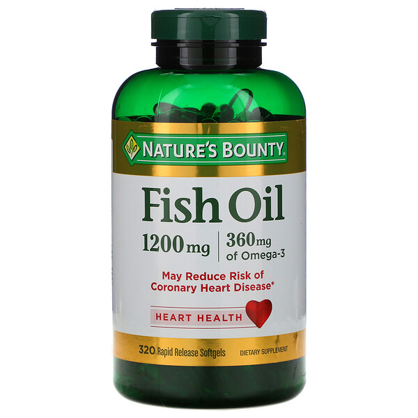 Fish Oil, 1200 mg, 320 Rapid Release Softgels