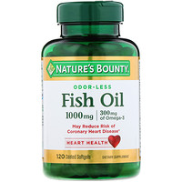 Odorless Fish Oil, 1,000 mg, 120 Coated Softgels - фото