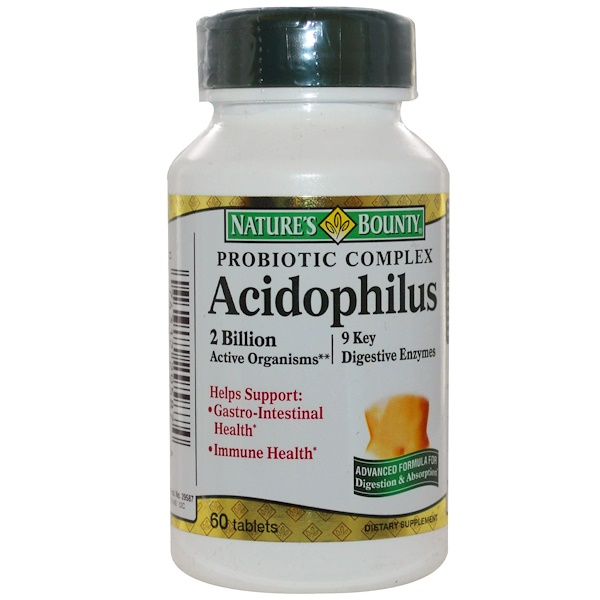 Nature's Bounty, Acidophilus, Probiotic Complex, 60 Tablets (Discontinued Item)
