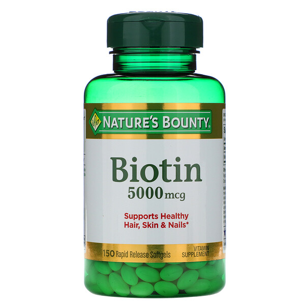 Biotin, 5,000 mcg, 150 Rapid Release Softgels