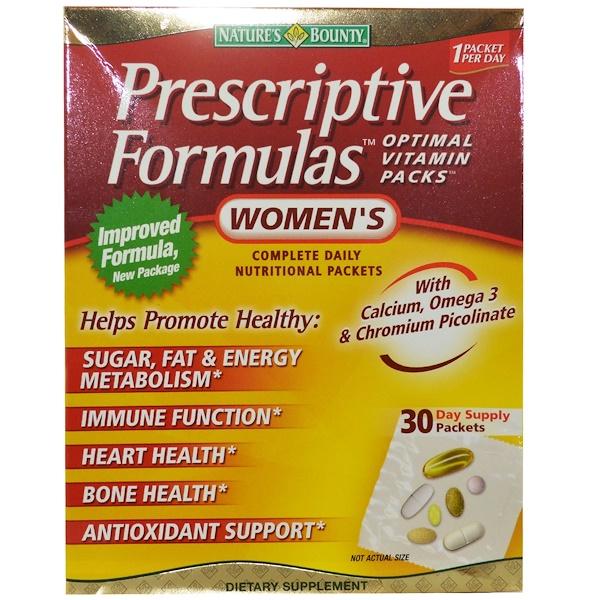 Nature's Bounty, Prescriptive Formulas, оптимальные витамины для женщин, 30 пакетов (Discontinued Item)